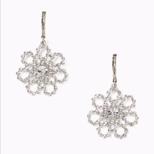 NWT KATE SPADE Crystal Lace Drop Earrings
